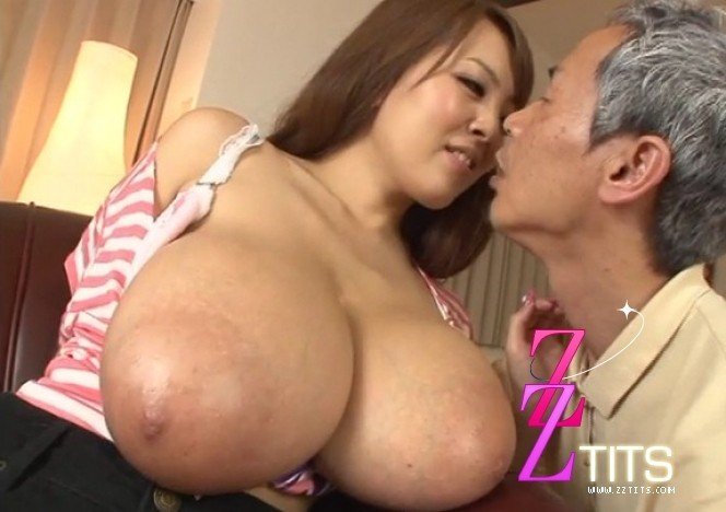 Large breasts sucked